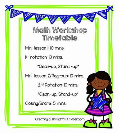 Math Workshop Grade Classroom 1st Manage Students