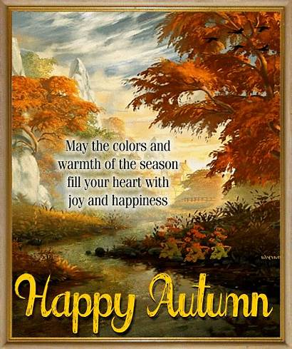 Autumn Happy Colors Fall Warmth Greetings Card