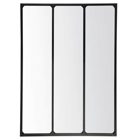 horloge cuisine pas cher emdé miroir 3 bandes métal 90 x 120 cm miroir emdé sur