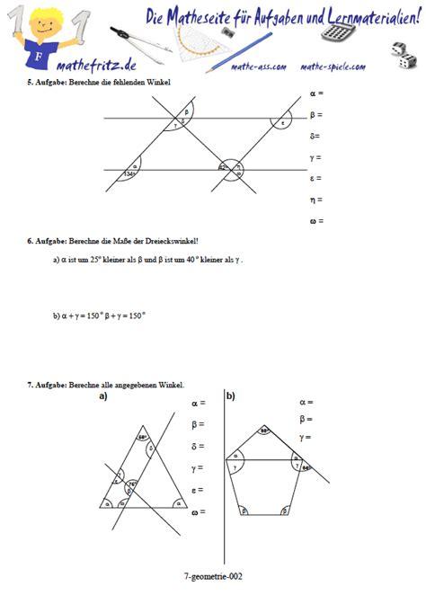 geometrie klasse  arbeitsblaetter winkel symmetrie dreieck