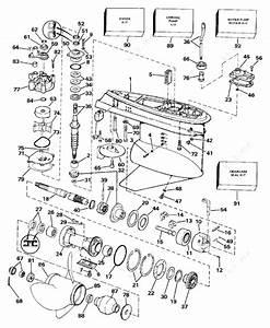 Evinrude 1987 225 - E225clcub  Gearcase