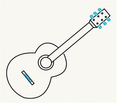 Guitar Draw Step Drawing Acoustic Easy Tuning