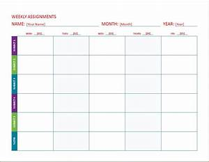 Homework Cover Sheet Template Weekly Assignment Calendar Templates Word Excel Templates