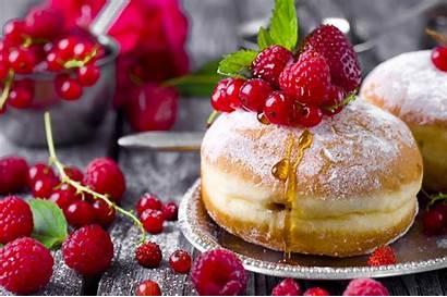 Doughnut Strawberry Pastry Currants Raspberry Berry Still