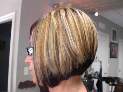 Short Bob Hairstyle Dark On Bottom Light On Top