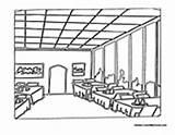 Restaurant Coloring Pages Inside Community Hamburger Colormegood Buildings sketch template