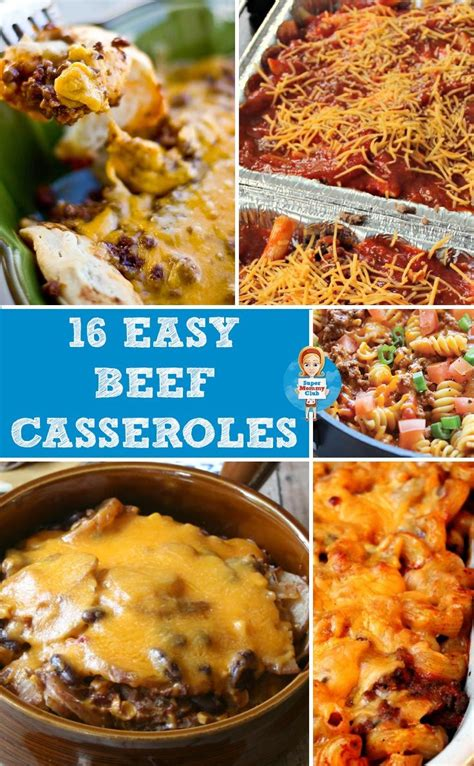 and easy ground beef recipes 18 easy ground beef casserole recipes