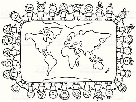 Children Around The World Coloring Pages Democraciaejustica