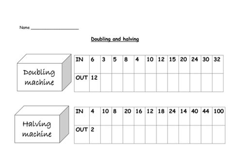 doubling  halving  nickybo teaching resources tes