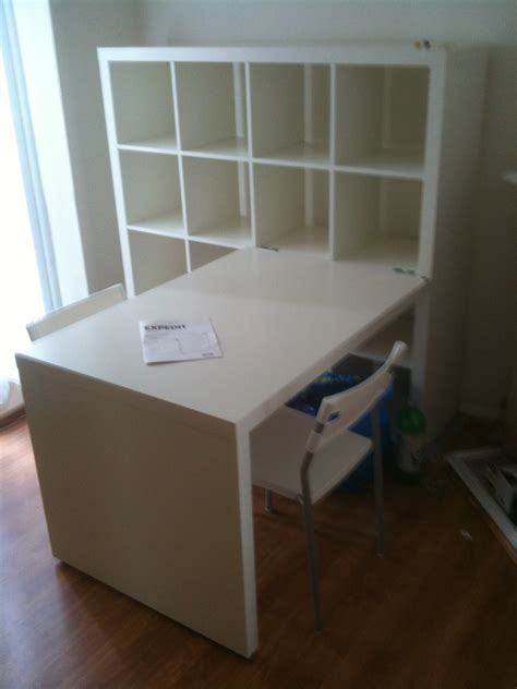 Ikea Schreibtisch Regal by Workspace Cool Home Office With Ikea Expedit Desk For