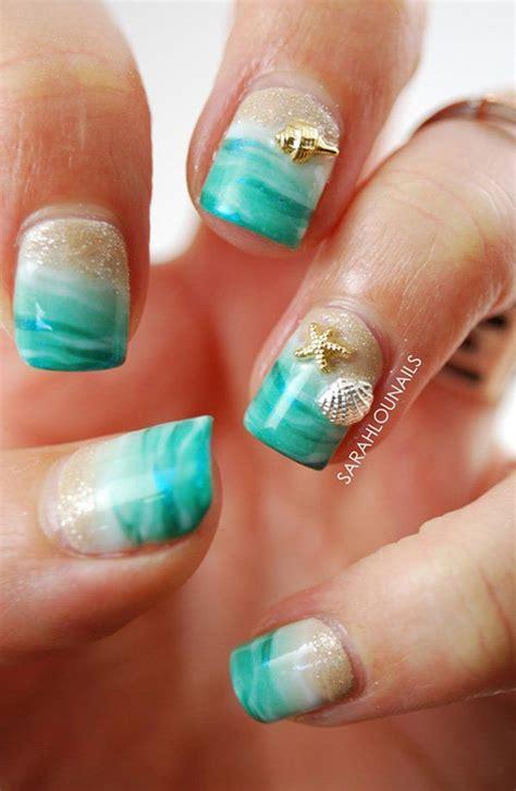 ocean nail art ideas nail ideas beach nails ocean