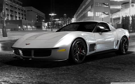 chevrolet corvette stingray black  white ultra hd