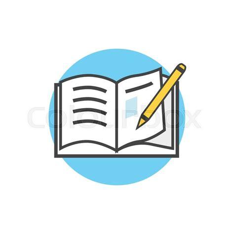 school icon book pencil stock vector