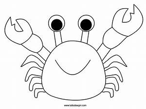 outline of a crab coloring pages