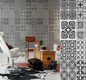 Au Fil Des Couleurs Papier Peint : papier peint carreaux de ciment au fil des couleurs ~ Melissatoandfro.com Idées de Décoration