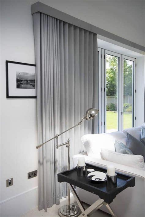ripple fold curtains on tracks bifold doors