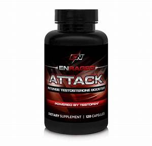 Enraged Nutrition Attack Intense Testosterone Booster Powered By Testofen