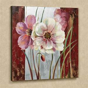 blooming beauties floral canvas wall art With floral wall art