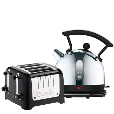 dualit dome kettle and 4 slot toaster bundle black