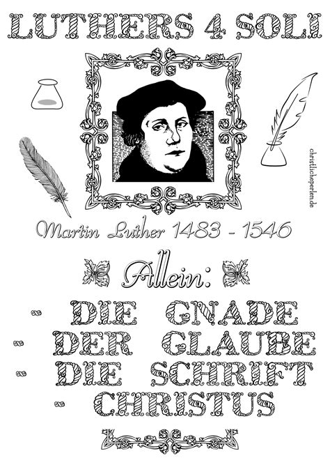 Kleurplaat Maarten Luther by Luther Basteln Ausmalen Christliche Perlen