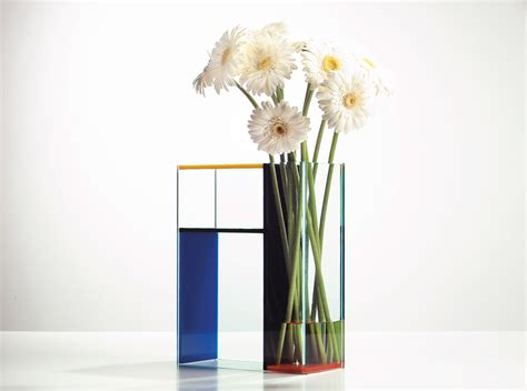 Mondrian Vase by Mondrian Vase Composition With Yellow And Blue 1930