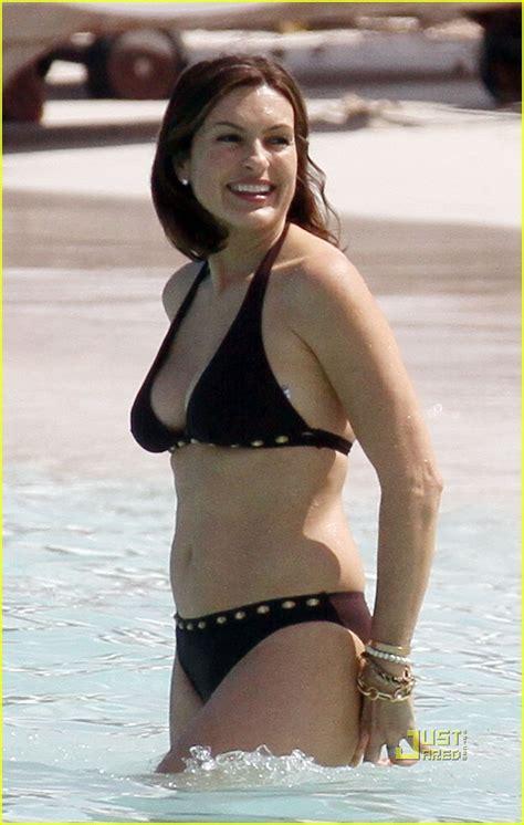 mariska hargitay bikini  st barts photo