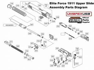 Elite Force  Kwc 1911 Co2 Blowback Airsoft Pistol Air Nozzle Return Spring