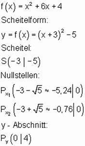 Quadratische Funktionen Scheitelpunkt Berechnen : l sungen quadratische funktionen teil i ~ Themetempest.com Abrechnung