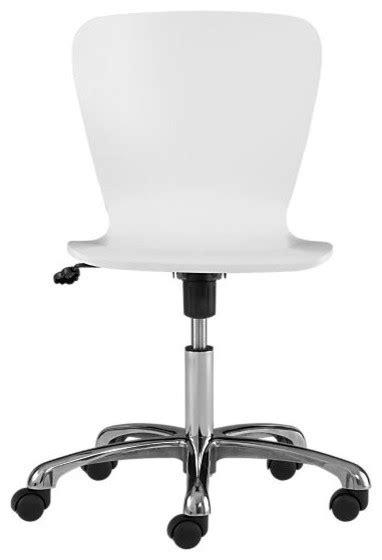 white modern desk chair felix white office chair modern office chairs by