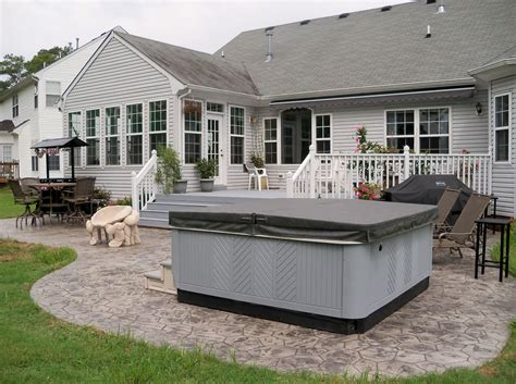 Stamped Concrete Patio And Hot Tub  Outside Spaces. Cheap Patio Table Ideas. Patio Kit Patterns. Www.patio Dining Sets. Aluminum Patio Cover Styles. Fry Home Store Patio Furniture. Resin Patio Furniture Toronto. Patio Furniture Sets Homebase. Outdoor Patio Chairs Canada