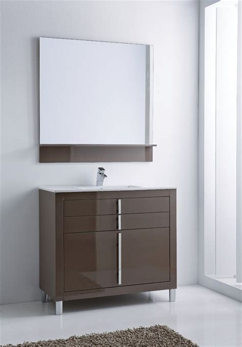 roma bathroom vanity  taupe high gloss lacquered
