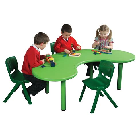 kidney table for classroom green kidney classroom tough table from early years