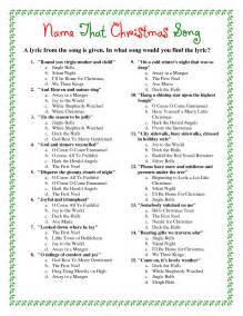 Printable Christmas Song Trivia