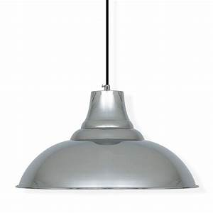 Industrial pendant ceiling light in chrome lamps