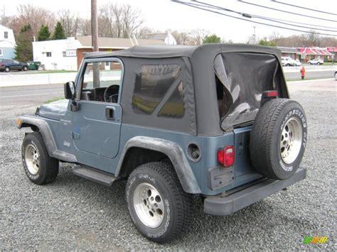 gunmetal blue jeep 1997 gunmetal pearl jeep wrangler sport 4x4 27851273