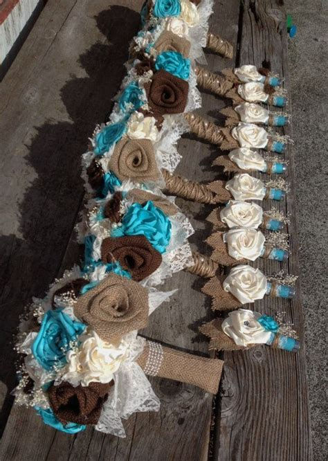 handmade bridal bouquets  natural  chocolate brown