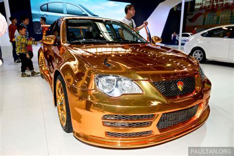 Gold Youngman Lotus L3 GT shown at Auto China Paul Tan ...