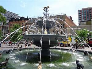Berczy, Park, Fountain, U2013, Toronto, Ontario