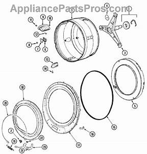 Parts For Maytag Mah5500bww  Spinner Assembly  U0026 Outer Tub