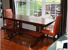Beautiful Kitchen Dining Table With Two Chairs And A Long
