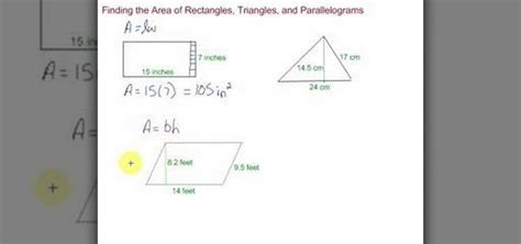 How To Find The Area Of Rectangles, Triangles & Rectangles « Math Wonderhowto