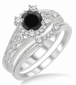 black diamond wedding ring set With wedding ring sets with black diamonds