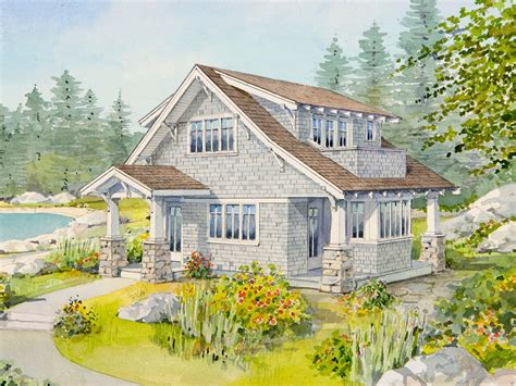 craftsman houses plans live large in a small house with an open floor plan