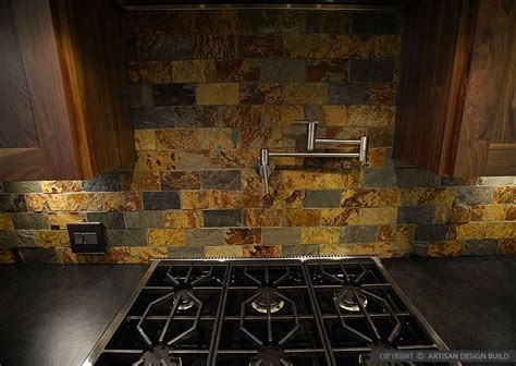 Brown Gray SUBWAY SLATE BACKSPLASH Tile   Backsplash.com