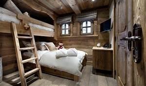Rideaux Style Chalet : d coration maison chalet de montagne et meuble en bois bon ski ~ Teatrodelosmanantiales.com Idées de Décoration