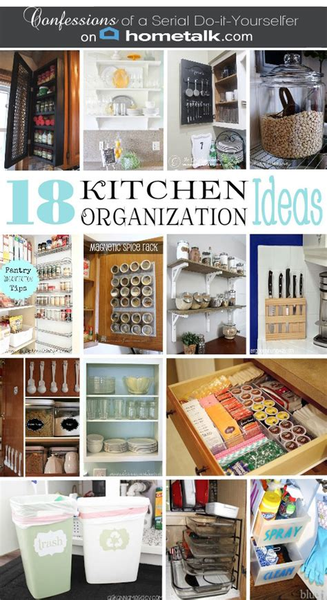 kitchen storage tips diy spice cabinet and 17 more kitchen organization ideas 3190
