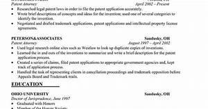 Trademark attorney resume