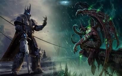 Warcraft Illidan Wow Wallpapers Arthas King Lich