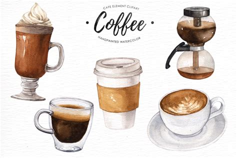 Find the perfect coffee art stock illustrations from getty images. Coffee watercolor clipart By everysunsun   TheHungryJPEG.com
