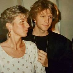 Very Old Adorable Photo Jon Bon Jovi With His
